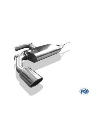 FOX Sportauspuff VW Eos 1F Facelift 1.4l 2.0l - 1 x 129x106mm oval (RohrØ 70mm)