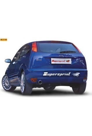 Supersprint Sportauspuff Endschalldämpfer 90mm rund aus rostfreiem Stahl - Ford Focus (3-5türig) 1.6i-1.8i-2.0i Bj. 99-04