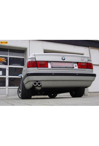 GESTEC Sportauspuffauspuffanlage 2 x 76 mm eingerollt rund - BMW 5er 540i V8