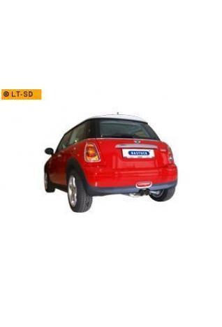 BASTUCK Komplettanlage inkl. Sport-Kat Mini R56 Cooper S 1.6l  2 x 76mm Ausgang mittig (RohrØ 63mm)