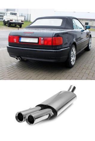 FOX Sportauspuff Audi 80/90 Typ 89 B3 Limousine/ Coupe/ 80 B4 Cabrio 2 x 76mm eingerollt