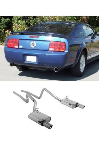 FOX Komplettanlage ab Kat Ford Mustang GT Coupe 4.6l - rechts links je 1 x 100mm mit Type-B-Einsatz (RohrØ 63.5mm)