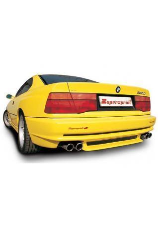 Supersprint Sportauspuff BMW 8er E31 850 CSi Bj. 92-97 - Komplettanlage mit Vorschalldämpfern rechts-links 2x 90 rund