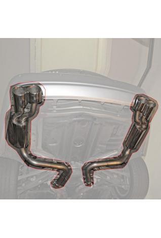 Einzelanfertigung Duplex Endschalldämpfer für Mercedes CLS-Klasse C219 CLS500 - rechts links je 2 Endrohre oval