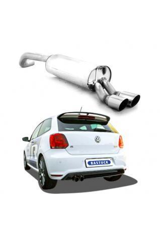 Bastuck Sportauspuff VW Polo 6R 2.0l WRC - 2 x 76mm schräg (RohrØ 63mm)