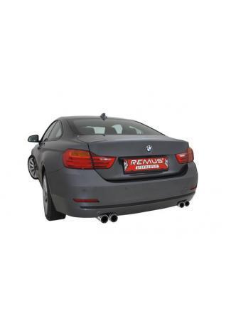 REMUS Sportauspuff Racing Downpipe mit 200zelligem Sportkat für BMW 3er F30 Limousine / F31 Touring 335i und BMW 4er F32 Coupe / F36 Gran Coupe 435i