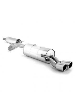FOX Sportauspuff Komplettanlage ab Kat für VW Polo 6R WRC 63,5mm 2x90mm Typ 16