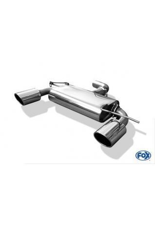 FOX Sportauspuff Endschalldämpfer Audi A3 8P re/li je 129x106mm