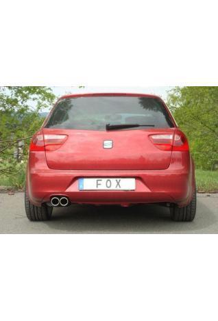 FOX Racing Komplettanlage für Seat Exeo 3R Lim. Kombi ST 1.8l  Endrohr 2 x 80mm eingerollt schräg ohne Absorber Rohrdurchmesser 55mm