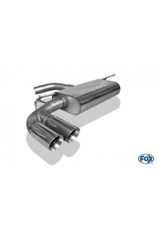 FOX Sportauspuff Endschalldämpfer für Seat Leon 5F + SC mit Starrer Hinterachse Endrohre einseitig 2x80 mm Typ 25 Rohrdurchmesser 70 mm