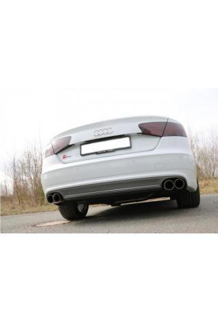 Fox Sportauspuff Endschalldämpfer für Audi S8 Typ 4H rechts/links zweiflutig - 2x90mm Typ 25