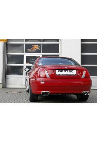 GESTEC Sportauspuff Duplex Endschalldämpfer 2x80mm rund schräg rechts-links MG ZT190 Limousine 2.5l V6