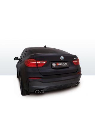 REMUS Duplex Endschalldämpfer Edelstahl mittig BMW X4 ab Bj. 2014 Typ F26