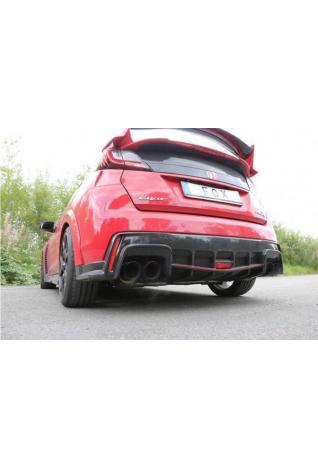 FOX Duplex Sportauspuff Endschalldämpfer quer Honda Civic IX Type R 2.0l re/li je 2x90mm Typ 25 schwarz