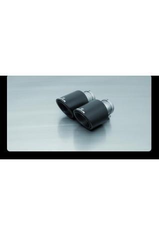 Remus Endrohr-Set 2 Carbon-Endrohre Ø 102 mm schräg BMW 1er F20 Coupe F21 Cabrio M140i(x) Hyundai i30N Performance