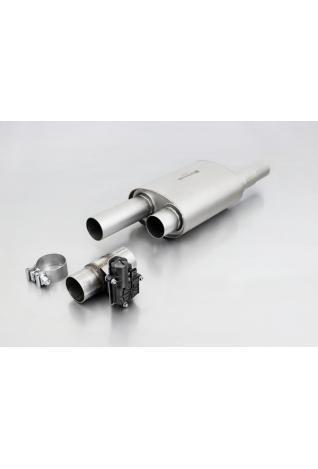 REMUS Universal Sportschalldämpfer mit integrierten elektrischen Klappen 30-200 kW 2x84mm Carbon Race