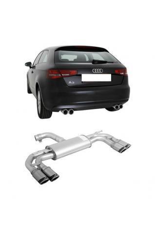 REMUS Sportauspuff Duplex Audi A3 8V 1.8 TFSI quattro inkl. Sportback re/li je 2x84mm Carbon Race