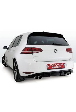 REMUS Duplex Sportauspuff VW Golf 7 Typ AU  rechts links je 2x84mm Street Race Black Chrome