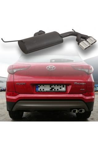 Ulter Sportauspuff Hyundai Tucson 1.6l ab Bj. 2015 rechts 2x120x80mm