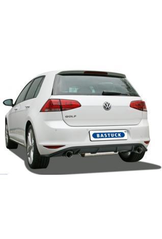 BASTUCK Duplex Sportauspuff mit Zubehör VW Golf 7 1.4l rechts links je 1x85mm Race Look