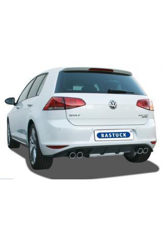 BASTUCK Duplex Racinganlage ab Kat. VW Golf 7 1.4l rechts links je 2x76mm mit Lippe