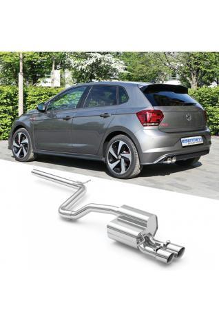 Eisenmann Sportauspuff VW Polo VI Typ AW 2.0l GTI ohne OPF 2x90mm Chrom