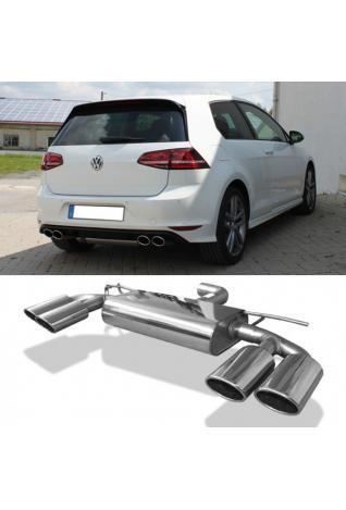 FOX Duplex Sportauspuff VW Golf VII Facelift starre Hinterachse rechts links je 2x115x85mm