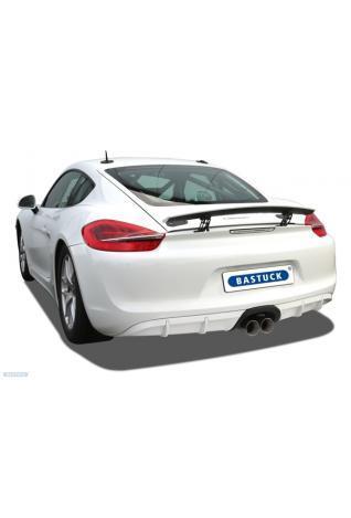 Bastuck Klappen Endschalldämpfer Porsche Boxter 718 Cayman 981 2x90mm Race
