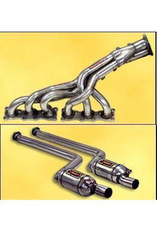 Supersprint Sportauspuff Fächerkrümmer inklusive Vorschalldämpfer mit Metall-Kat. BMW E90 - E91 - E92 (325i und 330i - 4türig - Touring und Coupe) ab 05