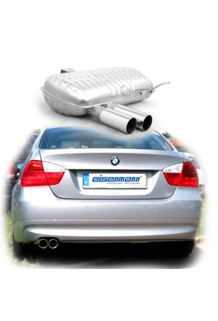 EISENMANN Sportauspuff BMW E90 Limousine und E91 Touring 2x70mm gerade poliert