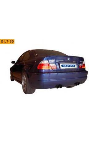 BMW M3 E46 Coupe u. Cabrio 3.2l  BASTUCK Duplex Sportauspuff 2 x 2 x 76mm (AnschlussØ 63mm)