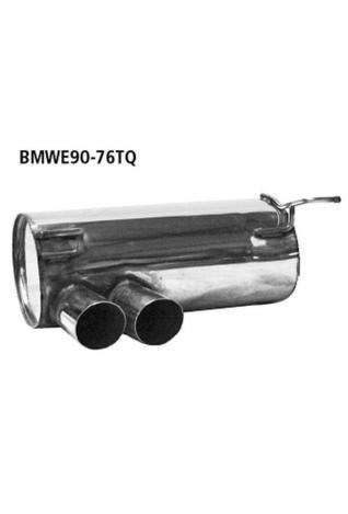 BMW 3er E92 Coupe  E93 Cabrio 325i  330i bis Bj. 07  BASTUCK Racing Komplettanlage ab Kat. rechts links je 2 x 76mm schräg geschnitten (AnschlussØ 63mm)