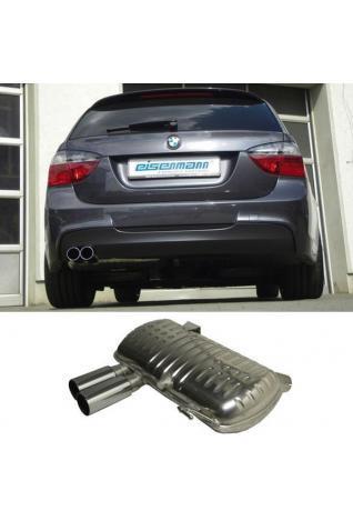 EISENMANN RACE Sportauspuff BMW E90 Limo E91 Touring 2x76mm gerade poliert