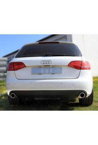 FOX RACING Komplettanlage ab Kat Audi A4 B8 Lim. Avant inkl. S-Line Frontantrieb 2.0l rechts links je 1 x 100mm schräg (RohrØ 2 x 63.5mm)