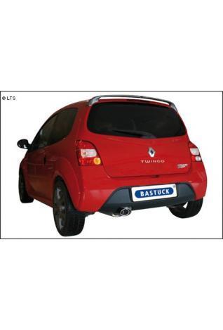 BASTUCK RACING Komplettanlage ab Kat. Renault Twingo 2 RS ab Bj. 07 1.6l - 120x80mm oval mit Einsatz (RohrØ 63mm)