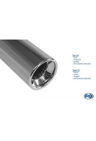 FOX Sportauspuff Ford Fiesta GFJ ab Bj. 89  1.4l  1.6l - 1 x 80mm mit Absorber (AnschlussØ 55mm)