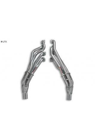 Supersprint Sportauspuff Fächerkrümmer im Patent-Design - BMW 5er E60/E61 545i Bj. 03-06 u. 540i-550i ab Bj. 06 und BMW 6er E63/E64 645i-650i