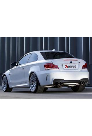 Akrapovic Duplex Sportauspuffanlage Titan mit je 2 Carbon Endrohren- BMW 1 M Coupe E82 Bj. 10-12