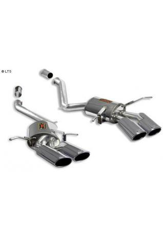 Supersprint Duplex-Sportauspuff rechts-links 2x 120x80 oval inkl. Verbindungsrohrsatz - Mercedes W164 ML63 AMG V8 ab 06
