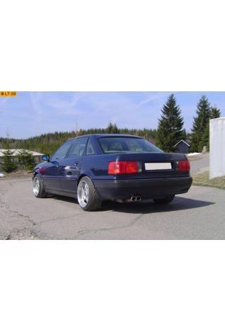 FOX Sportauspuff Edelstahl Endschalldämpfer Audi 80  1.6l  2.0l  1.9l D  2 ER 76mm  eingerollt  gerade  mit Absorber
