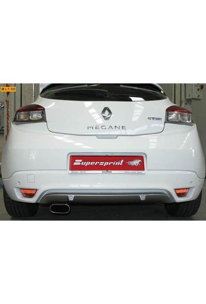 Supersprint Sportauspuff Racinganlage links 145x75 oval inkl. Downpipe und Mittelrohr - Renault Megane III 2.0 Tce ab Bj. 10