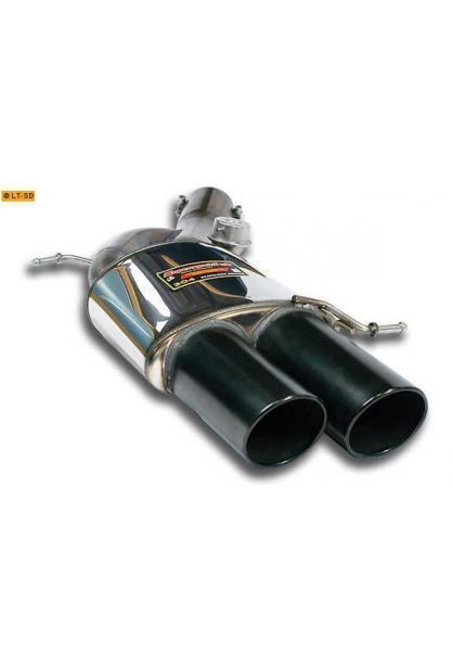 Supersprint Sportauspuff Endschalldämpfer links 2x100 schwarz mit Klappensteuerung - BMW F10 M5 V8 ab Bj. 12