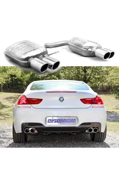 EISENMANN Sportauspuff BMW 6er F12 Cabrio u. F13 Coupe 640i - rechts links je 2 x 90mm
