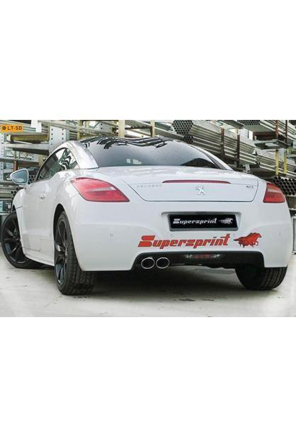 Supersprint Sportauspuff Racinganlage inkl. Metall-Kat. 2x 100x75 oval - Peugeot RCZ THP 1.6i (200 PS) ab Bj. 10
