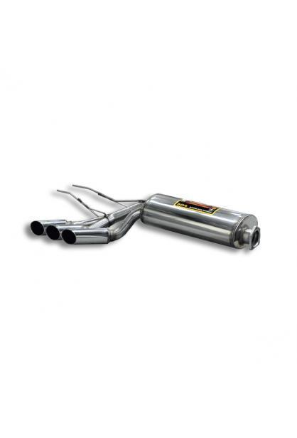 Supersprint Sportauspuff Komplettanlage re/li 3x76mm rund inkl. Metall-Kat. Mercedes G55 AMG Bj 08-12, G500 V8 Bj 98-08