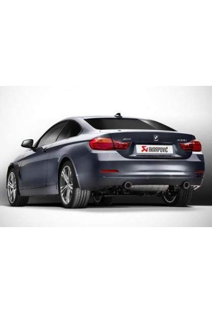 Akrapovic Sportauspuff BMW F30 335i und F32 435i ab Bj. 12 - Duplexanlage ab Serien-Kat. rechts-links je 1 Endrohr Carbon