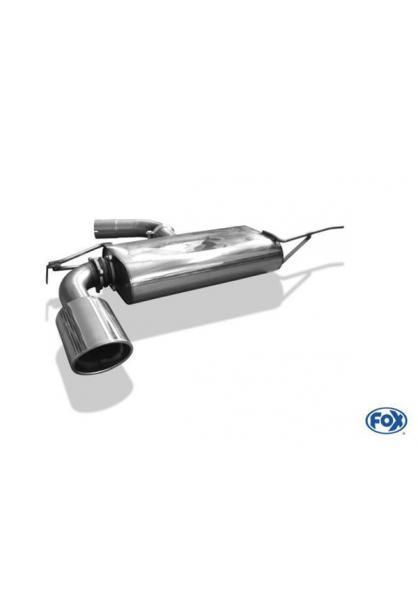 FOX Komplettanlage ab Kat VW Scirocco 13 1.4l TSI  2.0l TDI - 1 x 129x106mm oval (RohrØ 70mm)