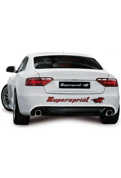 Supersprint Sportauspuff Audi A4 inkl. Allroad und Quattro 2.0TFSI ab Bj. 08 und A5 Coupe Cabrio inkl. Quattro 2.0 TFSI ab Bj. 08 - Duplex Anlage mit Metall-Kat. je 100mm