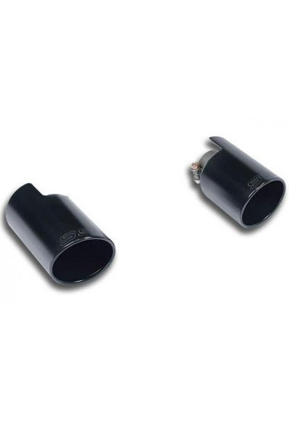 Supersprint Sportauspuff Duplex-Endrohrsatz rechts-links 100mm schwarz - Mini Cooper S Countryman 1.6i ab Bj. 10