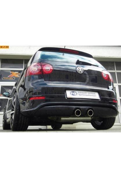 FOX Sportauspuff VW Golf V GTI/ GTD + VW Golf VI GTI inkl. Cabrio mittig 2x90mm R32-Design